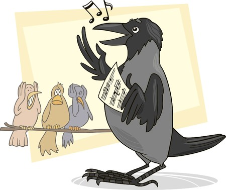 disgusted: singing crow