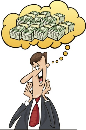 businessman think about money Stock Vector - 7751242
