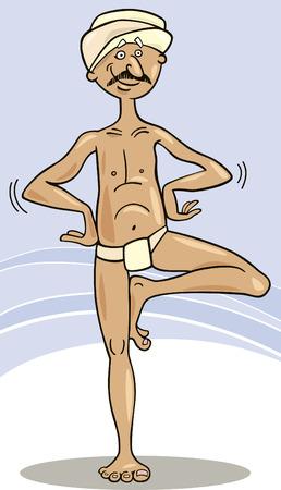 hindu man practice yoga Stock Vector - 7821939