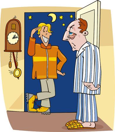 tocar la puerta: visite en el medio de la noche