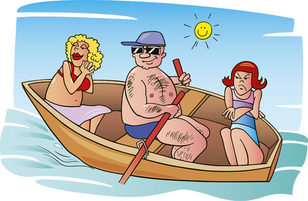 unhappy family: vacation with parents