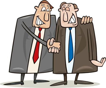 dandose la mano: pol�tica de estrechar la mano de acuerdo  Vectores
