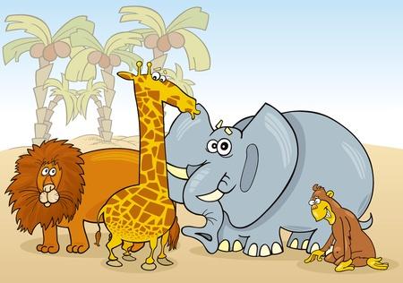 Grupo de ilustración de animales africanos