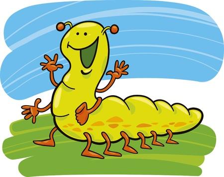 cartoon illustration of funny caterpillar Stock Vector - 8489865