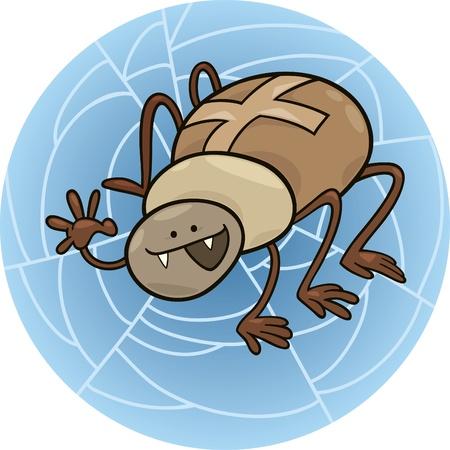 cartoon illustration of funny cross spider Stock Vector - 8489867