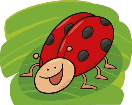 cartoon illustration of funny ladybug Stock Vector - 8489868