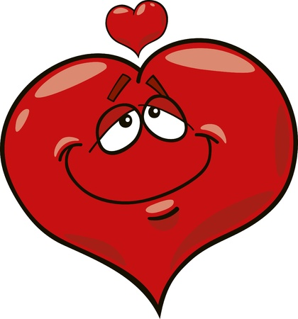 sweet heart: cartoon illustration of heart in love