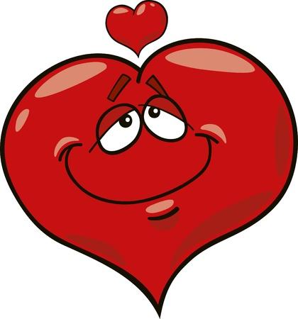 dessin coeur: illustration de la caricature du c?ur amoureux Illustration