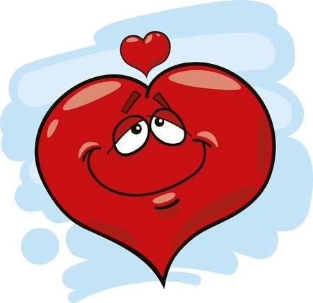 liking: cartoon illustration of heart in love