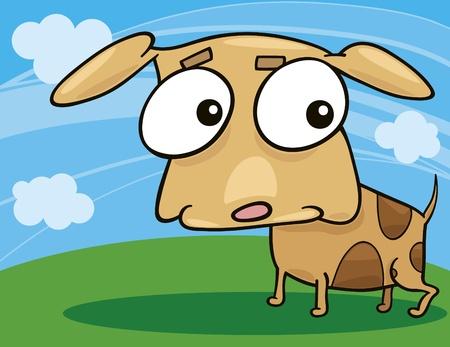 cartoon illustration of cute little dog Stock Vector - 8592024