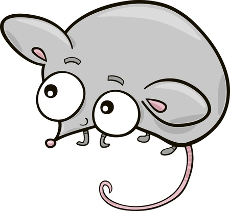witty: cartoon illustration of cute little mouse