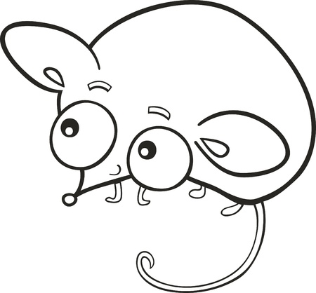 cartoon illustration of cute little mouse for coloring book Stock Vector - 8592028