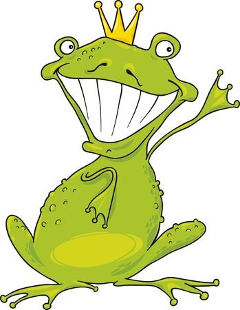 prince frog Vector