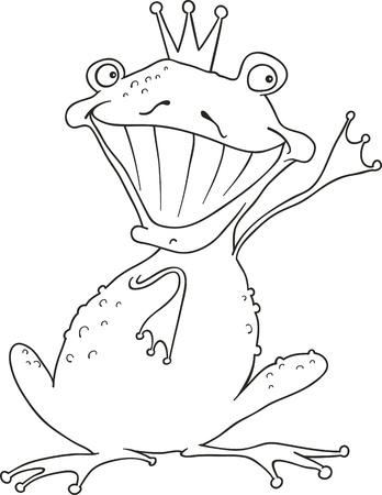 princess frog: Funny pr�ncipe rana para colorear el libro