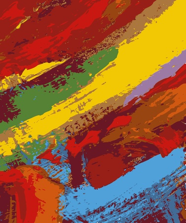 modern art: abstract painting background illustration Illustration