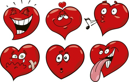 colección de corazones divertido