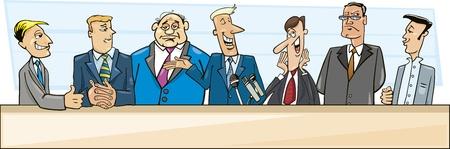 rueda de prensa: empresarios y pol�ticos