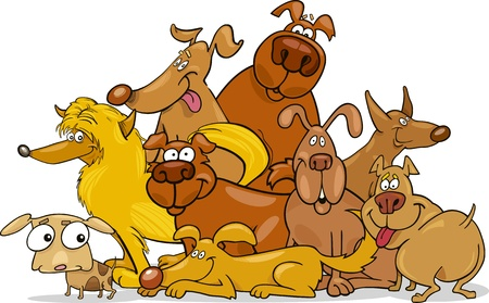 big dog: cartoon dogs group