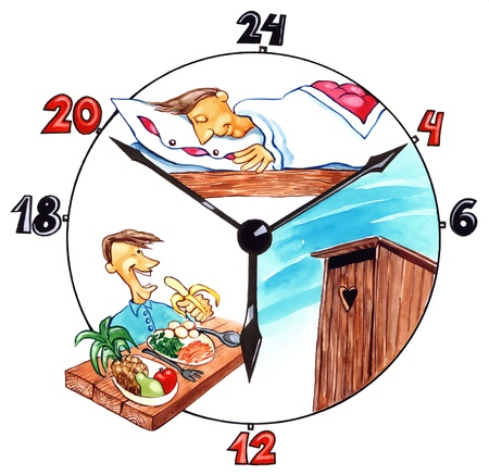 snooze: illustration of the day of healthy man