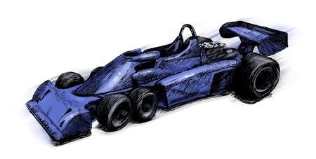 illustration of Former formula one bolide