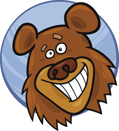 wild bears: cartoon illustration of funny bear Illustration