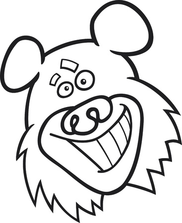 funny bear for coloring book Vector