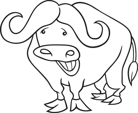 funny african buffalo for coloring book Stock Vector - 9629248