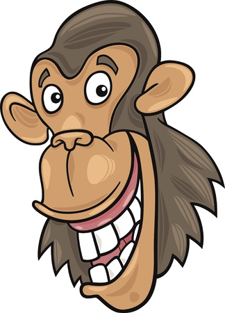 illustration of funny chimpanzee ape Stock Vector - 9629252