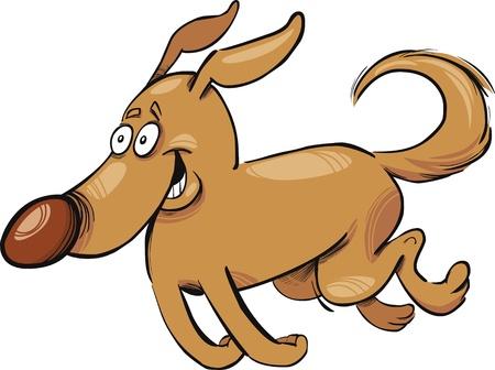 running nose: Cartoon illustration of running dog Illustration
