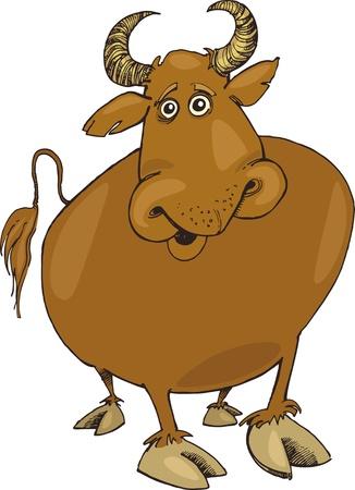 Illustration of funny bull Stock Vector - 9704787