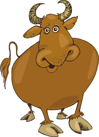 fortune telling: Illustration of funny bull