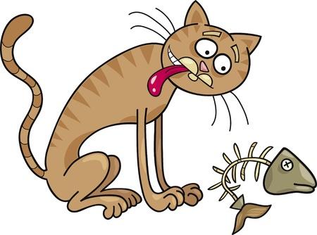 purr: Cartoon illustration of homeless cat