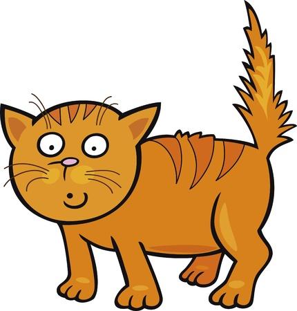 purr: Cartoon illustration of Cute little Cat Illustration