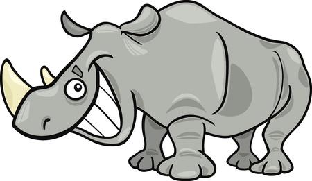 african grey: funny african rhinoceros