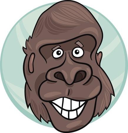 apes: cartoon illustration of funny gorilla ape