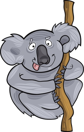 funny australian koala Stock Vector - 9841632