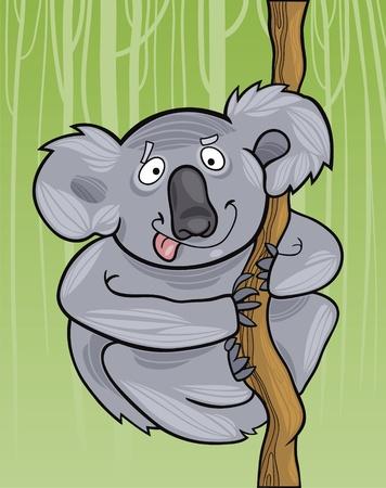 cartoon illustration of funny australian koala Vector