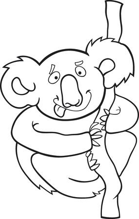 cartoon illustration of australian koala for coloring book Vector