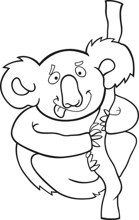cartoon illustration of australian koala for coloring book Stock Vector - 9841631