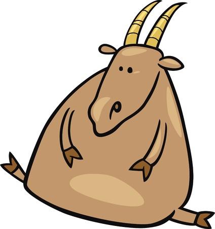 capricornio: caricatura ilustración del signo de Capricornio