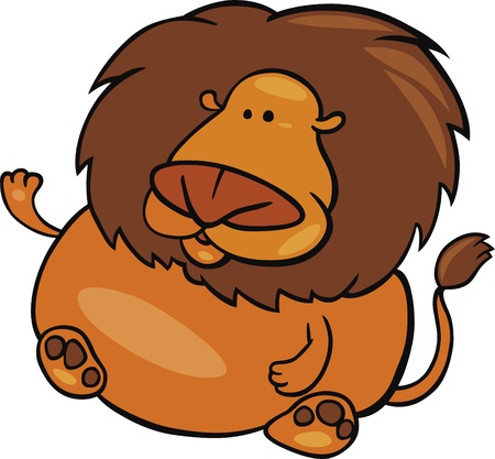 fortune cat: cartoon Illustration of leo sign