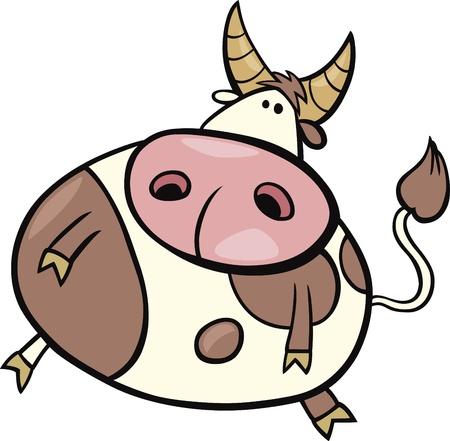 bullock: cartoon Illustration of taurus sign Illustration