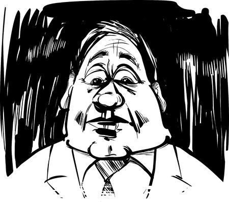 startled man caricature sketch illustration Stock Vector - 10746496