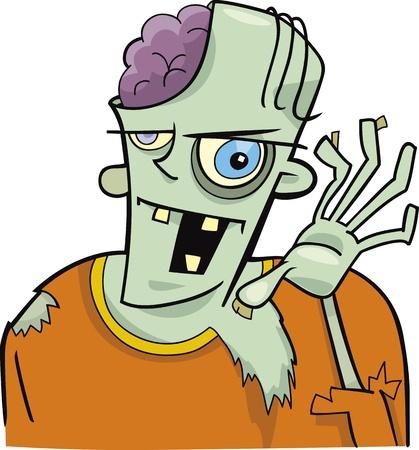 zombie cartoon: cartoon zombie Illustration