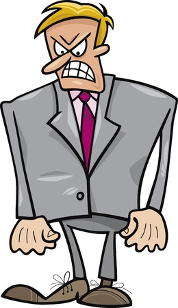 angry boss: angry businessman Illustration