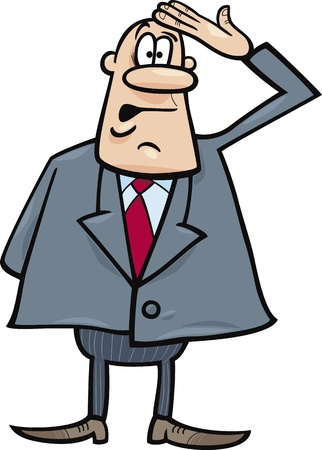 funny confused businessman Vector