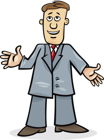 cartoon illustration of funny man in suit Stock Vector - 11933973