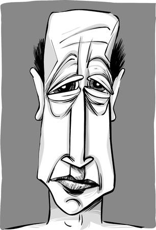 hombre flaco: dibujar la caricatura ilustración del hombre viejo y calvo Vectores