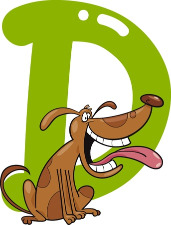 cartoon illustration of D letter for dog Stock Vector - 13070787