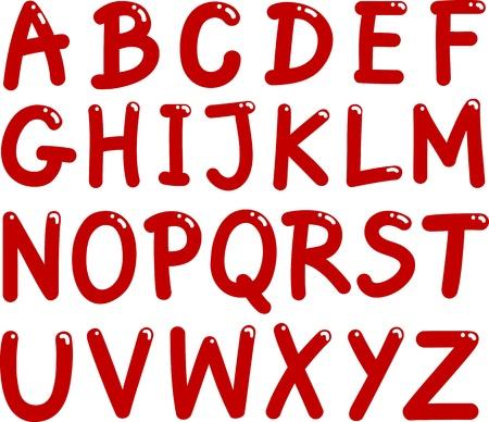 abecedario: ilustraci�n de letras may�sculas alfabeto para la educaci�n